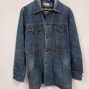 Vintage Levis denim Jean jacket coat orange tab